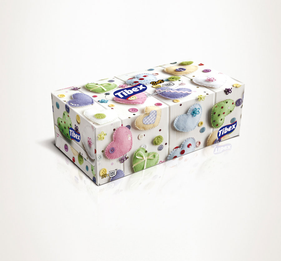 Facial Tissue Box Graphic Design #41