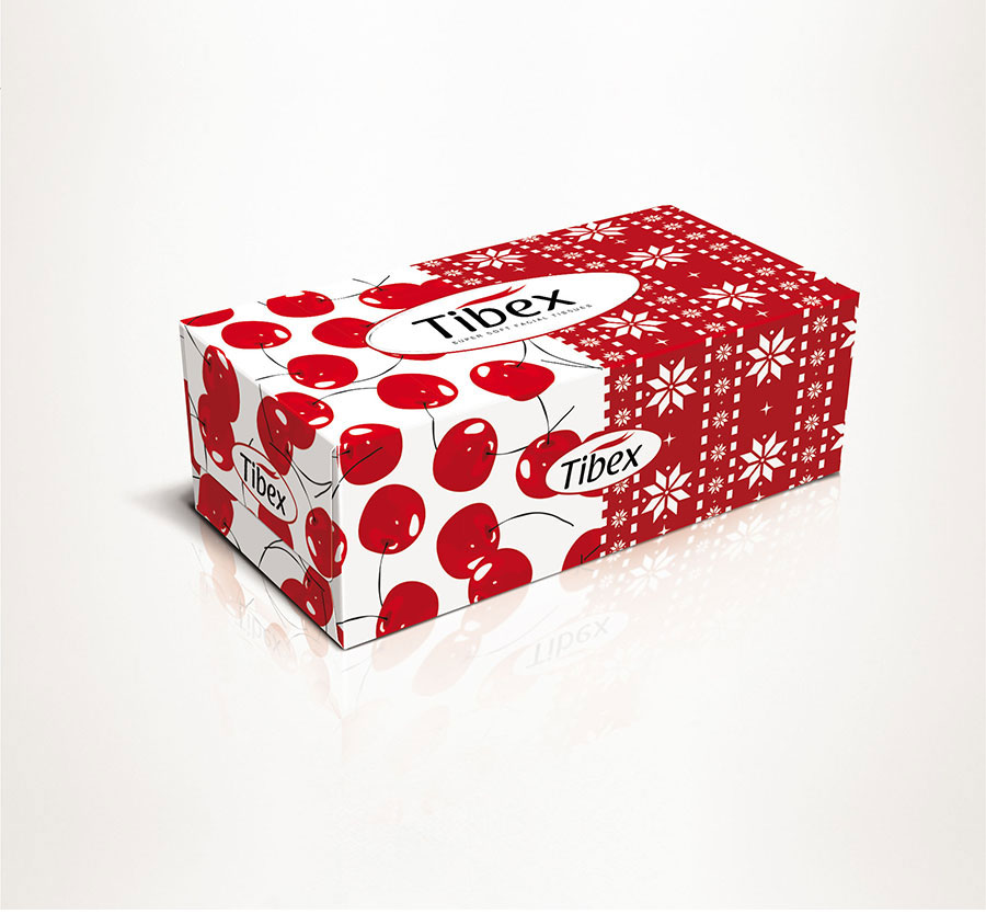 L016 facial tissues box