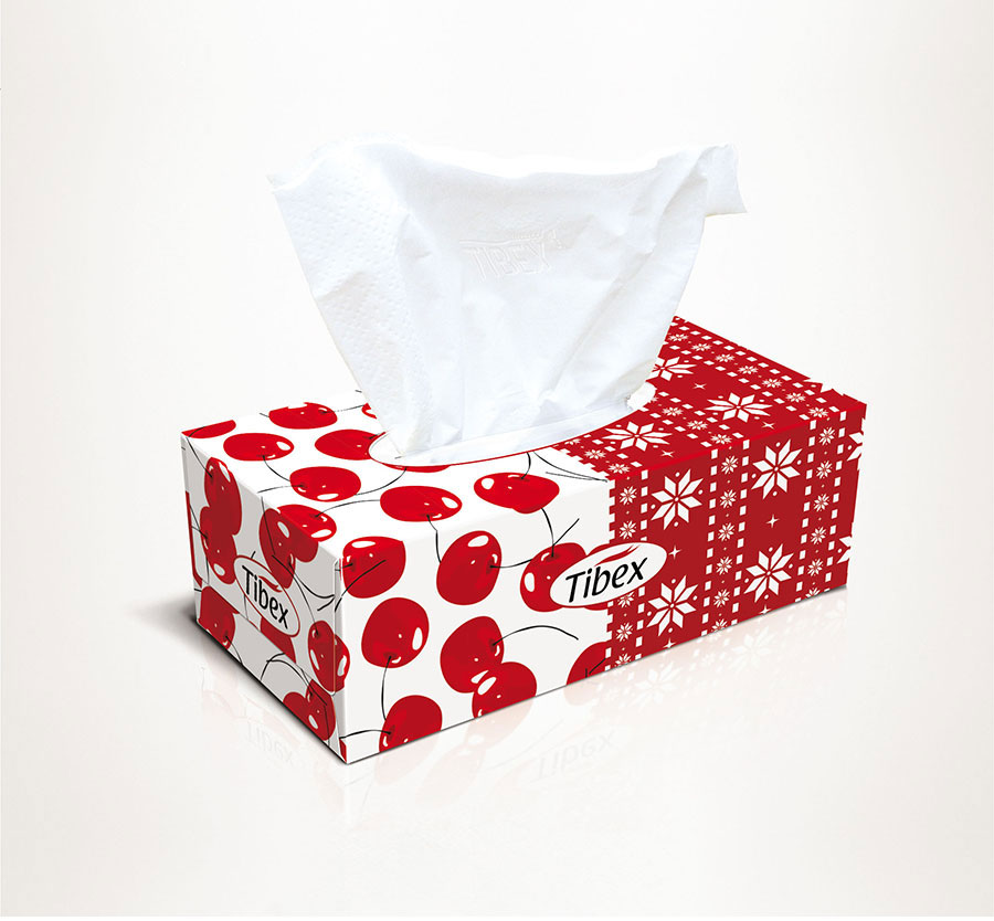 Facial Tissue Box - Graphic Packaging Design - facial ...