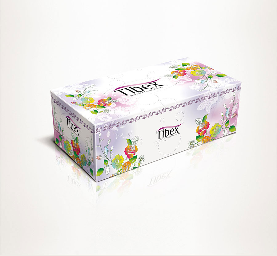 Facial Tissue Box - Graphic Packaging Design - Ordinary Design