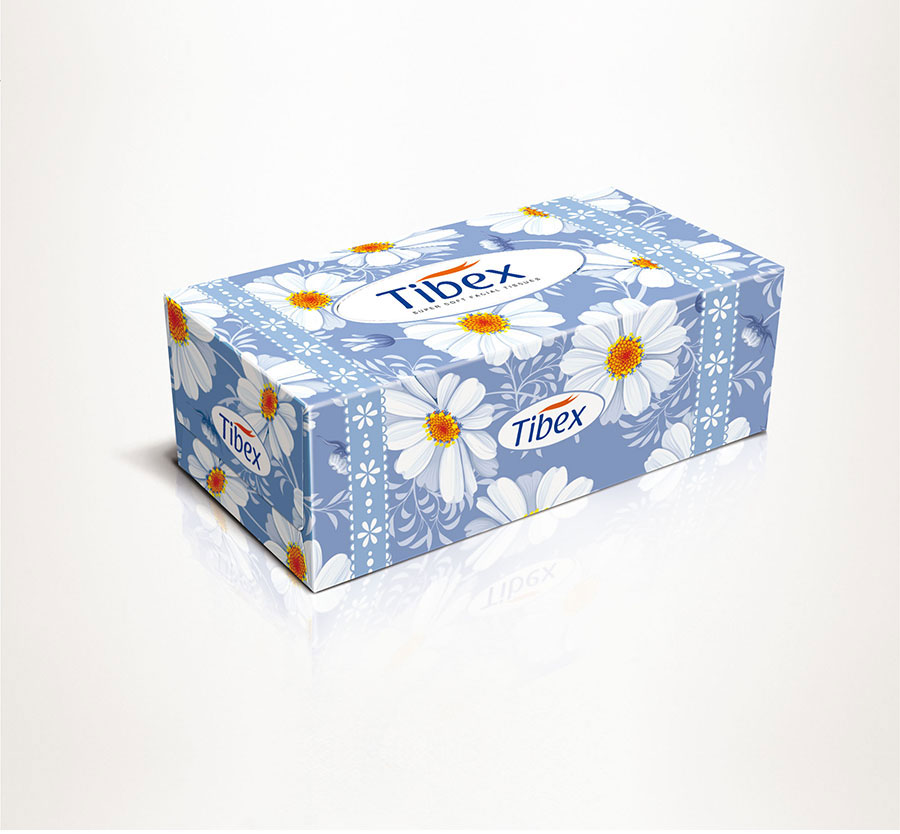 Facial Tissue Box - Graphic Packaging Design - Premium Designs